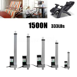 12v dc 1500n v rin actionneur lin aire moteur lectrique ouvre porte de levage ebay. Black Bedroom Furniture Sets. Home Design Ideas