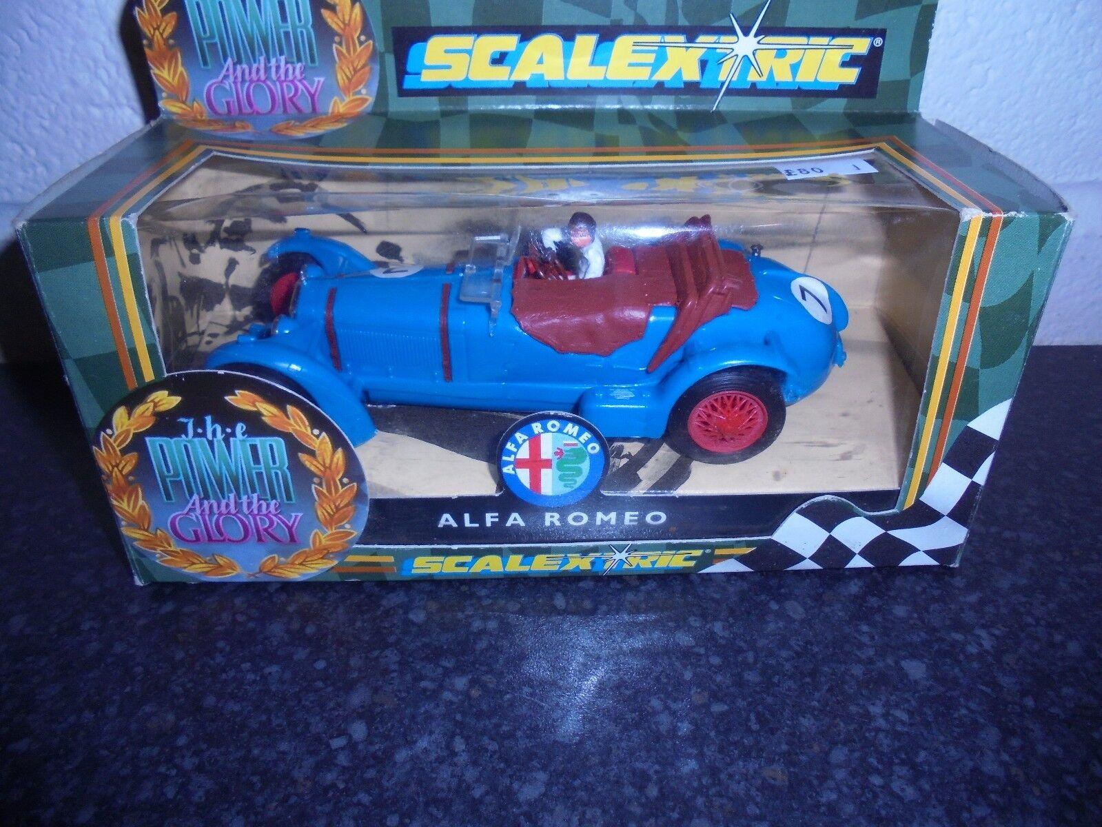 Scalextric C306  Power & Glory  re issue  Alfa Romeo new m b