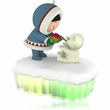 Frosty Friends a Fish for Christmas 2015 Hallmark Ornament Eskimo Polar Bear W1