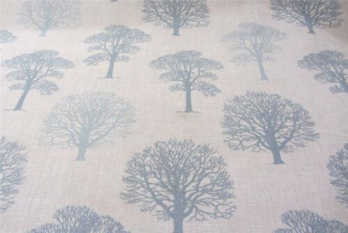English Old Trees Wedgwood Blue Cotton  140 cm Wide Curtain//Craft Fabric