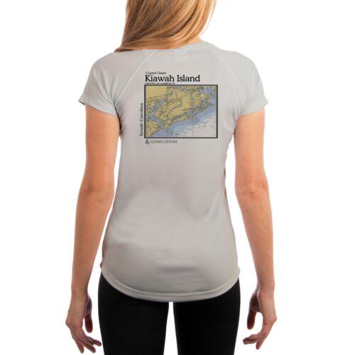UV//Sun Protection Short Sleeve T-Shirt Kiawah Island Chart Women/'s UPF 50