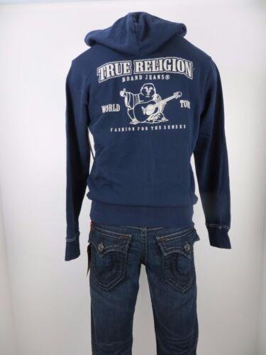 Nwt True Religion Classic Logo Zip Up Hoodie, True Navy, Size M, Retails $149 by True Religion