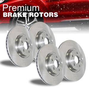 Front /& Rear Disc Brake Rotors 4 PCS For 2010-2015 Toyota Prius