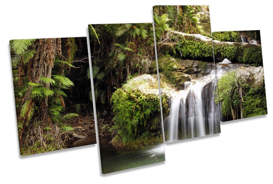Forest River LONA pa rojo  arte bosques Cuadro Cuadro bosques Enmarcado de múltiples 0776b0