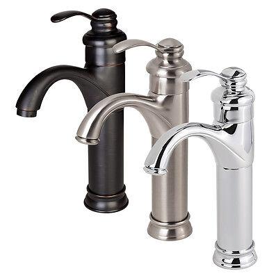 NEW Bathroom Faucet Vessel Sink Lavatory Single Handle Hole Matching Popup Drain