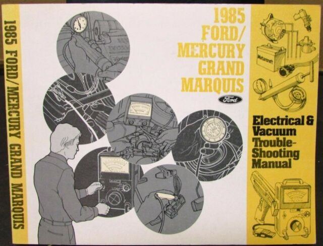1985 Mercury Dealer Electrical  U0026 Vacuum Diagram Service