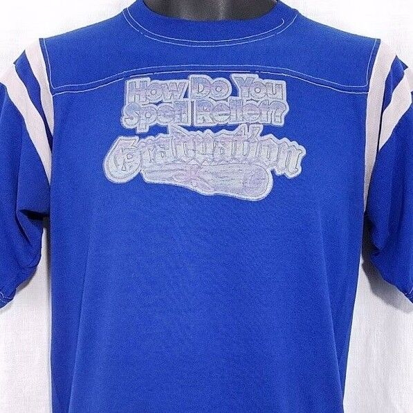 f29bea8a Graduation Mens T Shirt Vtg 70s 80s How Do You Spell Relief Made In USA  Medium