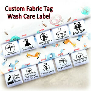 Custom-Text-Logo-Tag-Personalized-Clothes-Dress-Craft-Sew-on-Satin-Ribbon-Labels