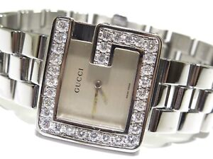 3895f0516f8 Mens   Ladies Gucci 2.50TCW White Diamond Stainless Steel 3600M ...