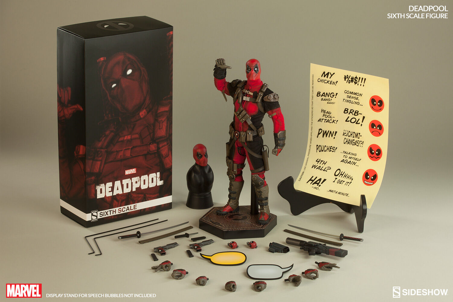 Sideshow Deadpool Exclusive 1 6 Action Figure