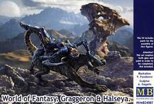Masterbox World of Fantasy Girl rides on Dragon Soldier 1:24 Modell-Bausatz kit
