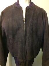Vtg 50s 60s Leather Jacket Suede Navy Bomber Reed Ike Ricky Rockabilly Cafe Mens