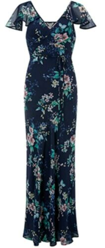 Maxi Alicia Monsoon Size Navy Dress Bnwt 10 Floral ztzCqw