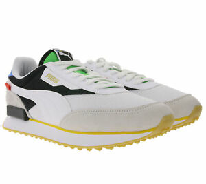 Puma-Future-Rider-The-Unity-collection-chaussures-coloris-tendance-Hommes-Sneaker-Blanc-Gris