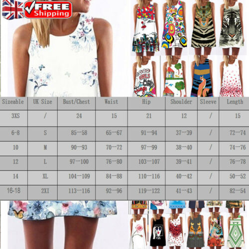 Mini Beach Abito Tops Uk Top senza Vest Beach Sundress Bohemia Women Sciolto maniche qv575UXwS