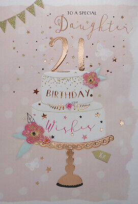 For A Special Daughter 21st Birthday Card