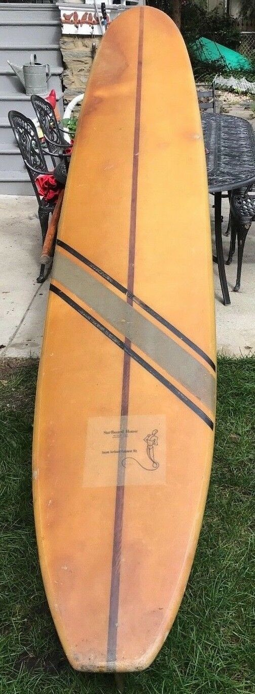 Vintage Surfboard House Miami  Surfboard Longboard 9'8  Serial Gene Vernon