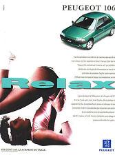 Publicité Advertising 1994  PEUGEOT 106 XT