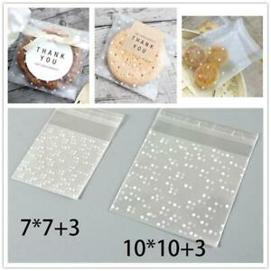 100Pcs Self Adhesive Bottle Plastic Cookie Candy Package Cellophane Gift Bags