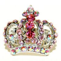 w Swarovski Crystal ~Pink Crown~ Princess Drag Queen Royal Adjustable Party Ring