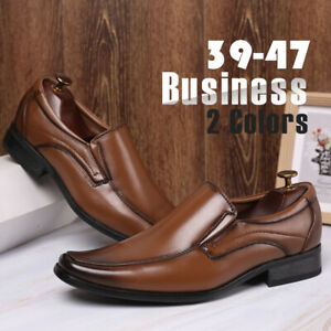 Men-039-s-Leather-Dress-Shoes-Casual-Slip-on-Oxfords-Business-Formal-Work-Shoes-Soft