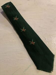 Vtg-50s-Old-New-Mexico-Shop-Wool-Fringe-Swing-Tie-Mallards-Ducks-Wide-48-4