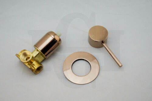 FOSCARound Rose Gold Lollipop Pin Lever Wall Mixer for Shower Bath SinkPVD