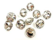 GLASS DIAMANTE CRYSTAL DIAMOND EFFECT CHAIR HEADBOARD UPHOLSTERY 25 MM BUTTONS
