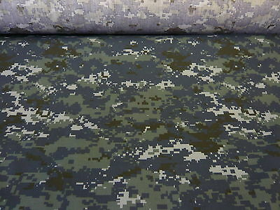 3mts TOP QUALITY DIGITAL PRINT BLUE CAMOUFLAGE WATER REPELLENT FABRIC