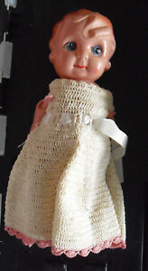 "Vintage 1940s Occupied Japan Celluloid Girl Character Doll 8 1/2"" Tall"