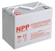NPP 12V 80Ah 90Ah 280W High Rate AGM Deep Cycle SLA Long Life UPS Battery