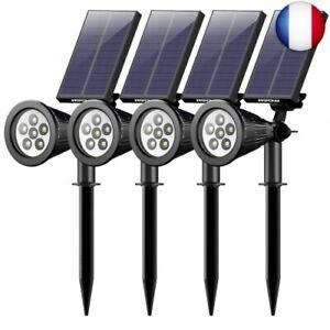4-Pack-Mpow-6-LED-Lampe-Solaire-Exterieur-Eclairage-Exte-4PACK-6-LED