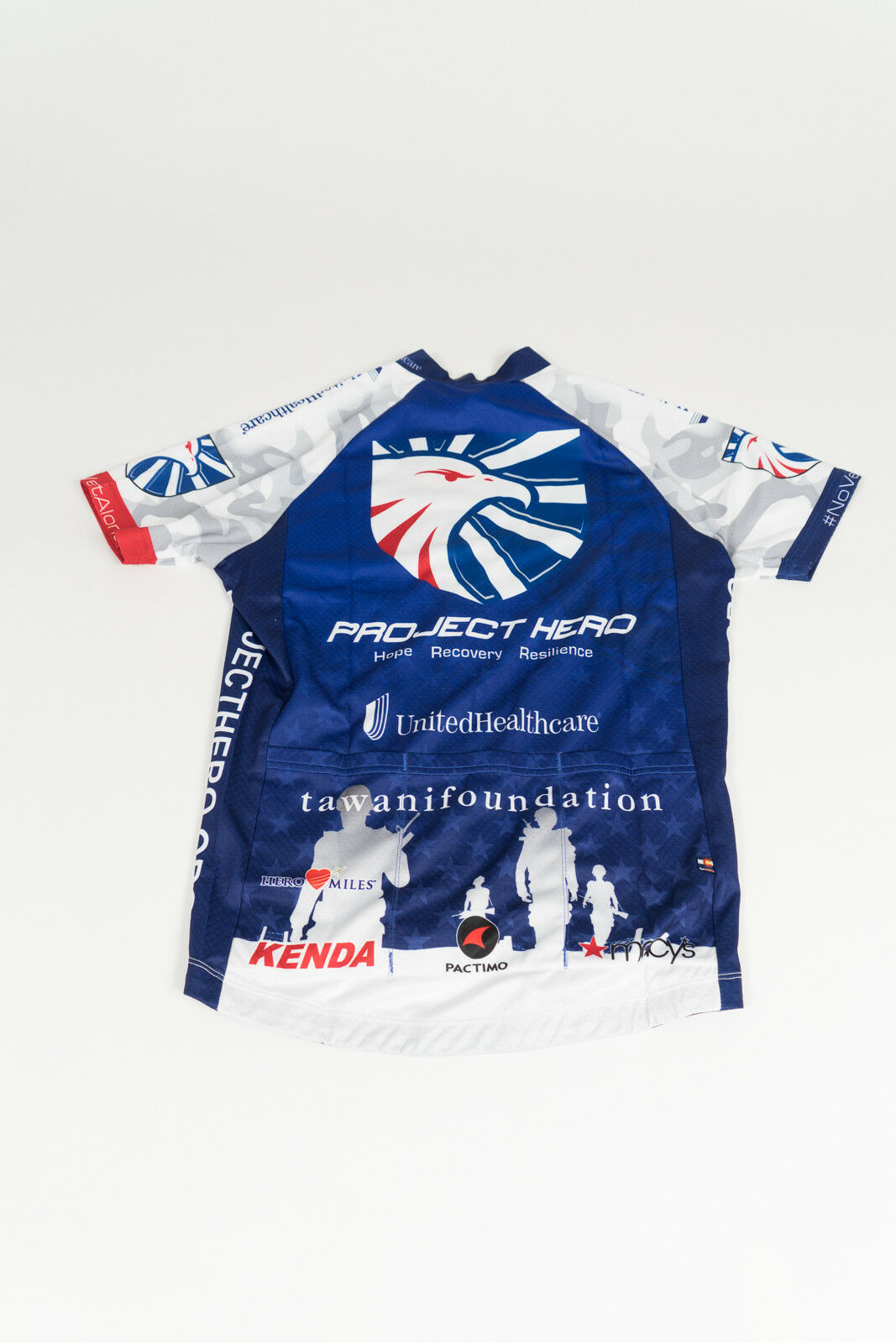 New Men's Pactimo Project Hero USO Continental SS Cycling Jersey, bluee, Size M