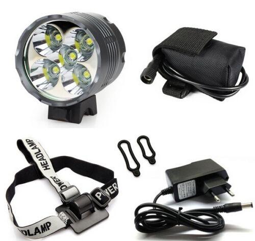 Battery Pack 7000 Lumen CREE XM-L 5x T6 LED Bike Light Lamp Headlamp