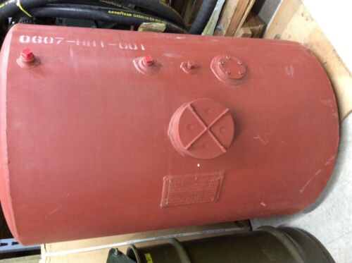 Red steel fuel tank 50 gallons