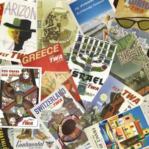 Vintage Finnair Flights to Paris Poster A3 Print