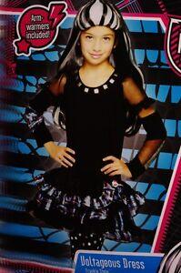 Girls-Monster-High-Halloween-Costume-Voltageous-Dress-Frankie-Stein-6-7-8-10-NEW
