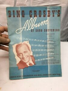 Vintage Bing Crosby Album Song of Souvenirs Sheet Music Radio City