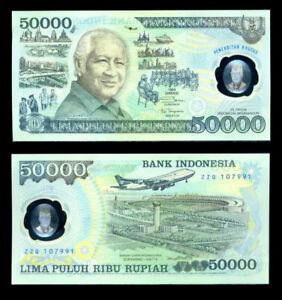 1993 Indonesia Polymer 50,000 Rupiah P-134 50000 UNC