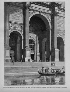 GONDOLA COLUMBIAN EXPOSITION ENTRANCE TO MANUFACTURES AND LIBERAL ARTS BUILDING