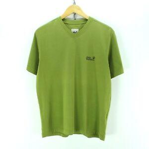 przybywa wyprzedaż w sklepie wyprzedażowym nowy przyjeżdża Details about Jack Wolfskin Men's T-Shirt Size M in Green V-Neck Short  Sleeve EF3422
