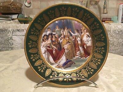 Assiette de Manufacture de Sèvres , Napoléon 1er couronnant Joséphine