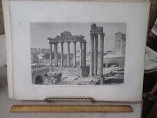Vintage Print,INTERIOR FORUM ROMANUM,Rome,Francis Wey,1872