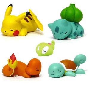 Pokemon-Bulbasaur-Squirtle-Pikachu-Sleeping-Desk-Figure-Toys-Xmas-Car-Decoration