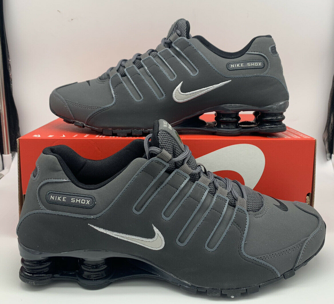 Nike Shox NZ Men's Shoes 378341-059 Dark Grey Anthracite Metallic
