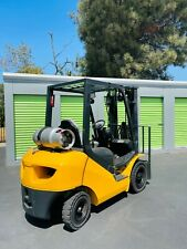 Komatsutusk Propane Forklift With Solid Outdoor Tires 5000 Lb Capacity