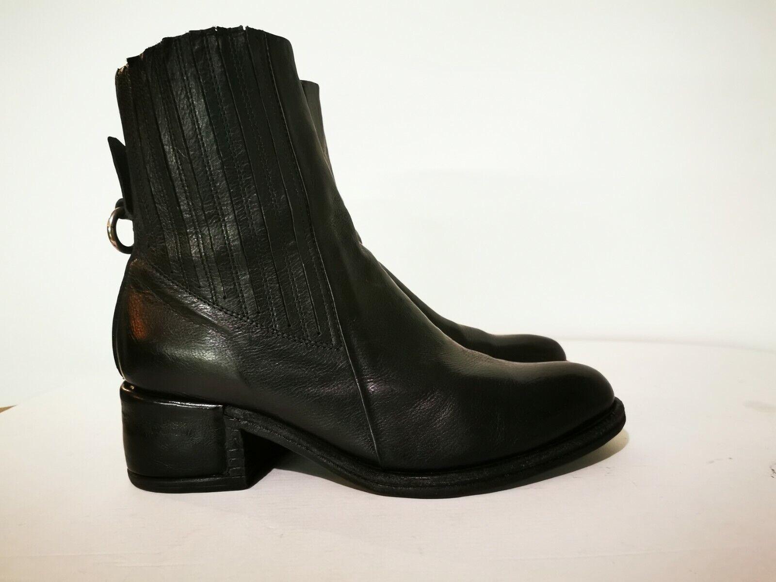 ! novedad! Airstep/a.s.98 sueño negro cuero genuino botines, talla 41, np 260