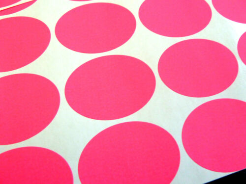 Plain Labels Blank BLC534 40x30mm  Oval 32 Bright Pink Paper Mini Stickers