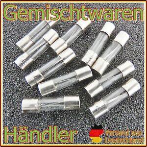 10-x-Feinsicherung-Glassicherung-Flink-6-x-30-mm-Sicherungen-Fuse-US-0-5-30A