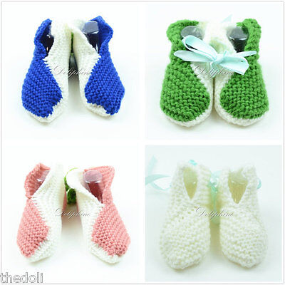 Candid Wholesale Lots 4 Boxes Crochet Baby Booties Shoes New Baby Girl / Boy 3-6 Months Easy And Simple To Handle